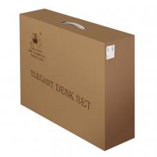 Набор настольный GALANT из мрамора, 8 предметов черный мрамор, двойной лоток, часы, 231192