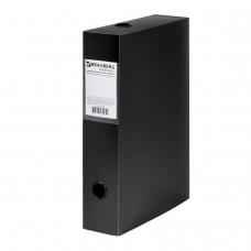 Короб архивный BRAUBERG 'Energy', пластик, 7 см на 600 л., разборный, черный, 231538