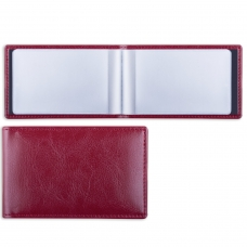 Визитница однорядная BRAUBERG Imperial, на 20 визиток, под гладкую кожу, бордовая, 231652