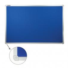 Доска c текстильным покрытием BRAUBERG для объявлений, 60х90 см, синяя, 231700
