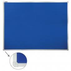Доска c текстильным покрытием BRAUBERG для объявлений, 90х120 см, синяя, 231701