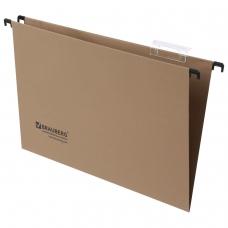 Подвесные папки картонные BRAUBERG , комплект 10 шт., 370х245 мм, 80 л., Foolscap, коричневые, 240 г/м2, табуляторы, 231787