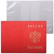 Обложка 'Паспорт России', вертикальная, ПВХ, цвет красный, 'ДПС', 2203.В-102