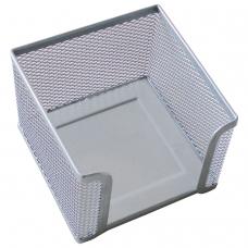 Подставка для бумажного блока BRAUBERG 'Germanium' металлическая, 78*105*105 мм, серебристая, 231945