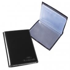 Бумажник водителя BEFLER 'Classic', натуральная кожа, тиснение, 6 пластиковых карманов, черный, BV.1-1
