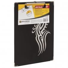Доска-планшет BRAUBERG 'Black Jack', с верхним прижимом, А4, 22,6х31,5 см, картон/ламинированная бумага, 232236