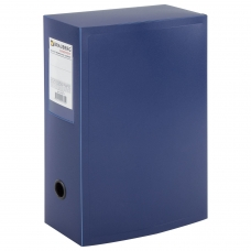 Короб архивный BRAUBERG 'Energy', пластик, 10 см на 900 л., разборный, синий, 0,9 мм, 235375