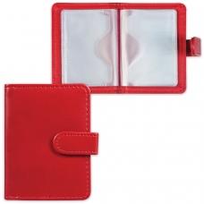 Визитница/кредитница однорядная GALANT Ritter, на 24 карты, под гладкую кожу, застежка, бордовая, 235399