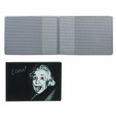 Обложка для пластиковых карт, дорожных билетов, студенческих билетов 'Эйнштейн', кожзаменитель, 'ДПС', 2757.Т3