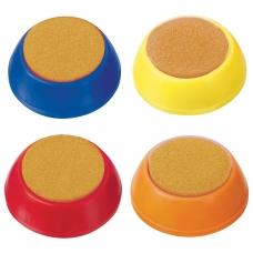 Губка для кассира СТАММ круглая, ассорти, УП02
