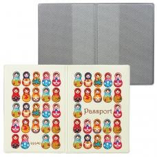 Обложка для паспорта 'Твой стиль - Матрешки', вертикальная, кожзаменитель, 'ДПС', 2203.Т8