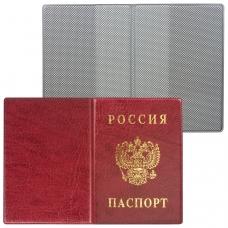 Обложка для паспорта России, вертикальная, ПВХ, цвет бордовый, 'ДПС', 2203.В-103