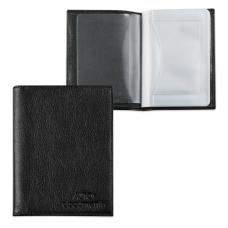 Бумажник водителя BEFLER 'Грейд', натуральная кожа, тиснение, 6 пластиковых карманов, черный, BV.1.-9