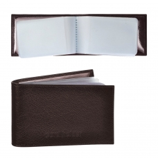 Визитница карманная BEFLER 'Грейд' на 40 визитных карт, натуральная кожа, тиснение, коричневая, K.5.-9