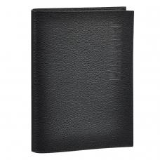 Обложка для паспорта BEFLER Грейд, натуральная кожа, тиснение Passport, черная, O.1.-9