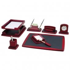 Набор настольный BESTAR 'Atropos' из дерева, 8 предметов, двойной лоток, красное дерево, 236390