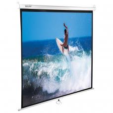 Экран проекционный настенный 150х150 см, матовый, 1:1, BRAUBERG WALL, 236725