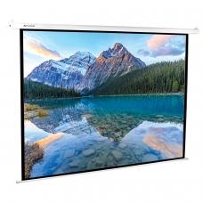 Экран проекционный настенный 180x240 см, матовый, электропривод, 4:3, BRAUBERG MOTO, 236734