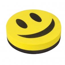 Стиратель магнитный для магнитно-маркерной доски 90 мм 'Смайлик', STAFF, упаковка с подвесом, 236751