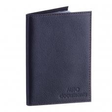 Бумажник водителя BEFLER 'Грейд', натуральная кожа, тиснение, 6 пластиковых карманов, синий, BV.1.-9