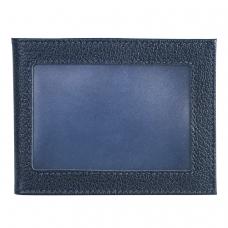 Обложка для удостоверения BEFLER 'Грейд', натуральная кожа, с окном, синий, F.13.-9