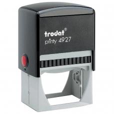 Оснастка для штампа, оттиск 60х40 мм, синий, TRODAT 4927, подушка в комплекте, корпус черный, 53117