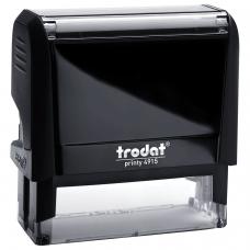 Оснастка для штампа, оттиск 70х25 мм, синий, TRODAT 4915 P4, подушка в комплекте, корпус черный, 56884