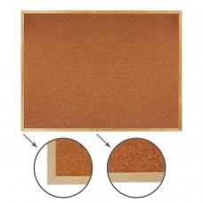 Доска пробковая BRAUBERG для объявлений, 90х120 см, деревянная рамка, 236861