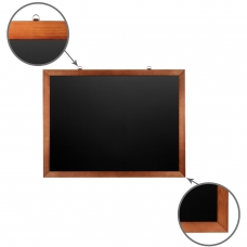 Доска для мела магнитная BRAUBERG, 60х90 см, черная, деревянная окрашенная рамка, 236891