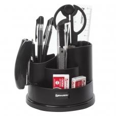 Канцелярский набор BRAUBERG 'Рапсодия', 10 предметов, вращающаяся конструкция, черный