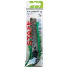 Нож универсальный 18 мм STAFF 'PRO', усиленный, металлические направляющие, автофиксатор, ассорти, 237083