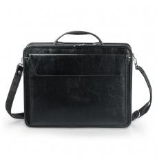Портфель Паритет, 38х29х6 см, искусственная кожа, черный