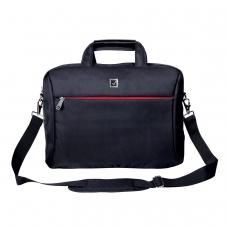 Сумка деловая BRAUBERG 'Control 2', 32х41х10 см, отделение для планшета и ноутбука 15,6', ткань, черная, 240397