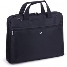 Сумка деловая для офиса и учебы BRAUBERG 'Chance', отделение для планшета и ноутбука 13,3', 25х35х4 см, ткань,черная, 240455