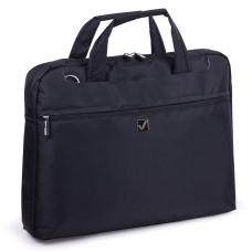 Сумка деловая для офиса и учебы BRAUBERG 'Chance', отделение для планшета и ноутбука 15,6', 30х40х4 см, ткань, черная, 240458