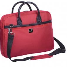 Сумка деловая для офиса и учебы BRAUBERG 'Dialog', отделение для планшета и ноутбука 15,6', 30х40х7 см, ткань, красная, 240462