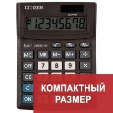Калькулятор CITIZEN BUSINESS LINE CMB801BK, настольный, 8 разрядов, двойное питание, 100x136 мм