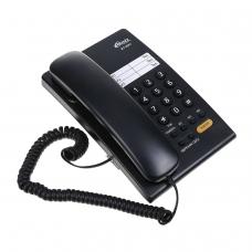 Телефон RITMIX RT-330 black, быстрый набор 3 номеров, мелодия удержания, черный, 15118350