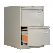 Шкаф картотечный ПРАКТИК AFC-02, 713х467х630 мм, 2 ящика, для 110 подвесных папок, формат папок Foolscap или A4 БЕЗ ПАПОК