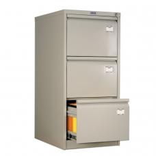 Шкаф картотечный ПРАКТИК 'AFC-03', 1020х467х630 мм, 3 ящика, для 165 подвесных папок, формат папок Foolscap или A4 БЕЗ ПАПОК