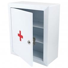 Шкафчик-аптечка металлический 'Призма', навесной, 2 полки, ключевой замок, 330x280x140 мм