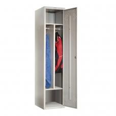 Шкаф металлический для одежды ПРАКТИК LS-11-40D, 2 отделения, 1830х418х500 мм, 24 кг, разборный