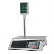 Весы торговые MERCURY M-ER 327P-15.2 LCD 0,05-15 кг, дискретность 2 г, платформа 325x230 мм, со стойкой