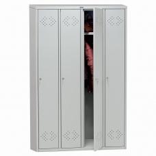Шкаф металлический для одежды ПРАКТИК LS-41, четырехсекционный, 1830х1130х500 мм, 55 кг, разборный, LSLE–41