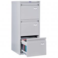Шкаф картотечный ПРАКТИК 'A-43', 995х408х485 мм, 3 ящика для 126 подвесных папок, формат папок A4 БЕЗ ПАПОК