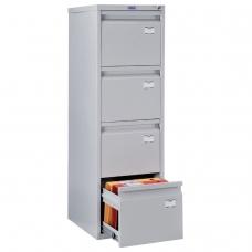 Шкаф картотечный ПРАКТИК 'A-44' 1305х408х485 мм, 4 ящика для 168 подвесных папок, формат папок A4 БЕЗ ПАПОК