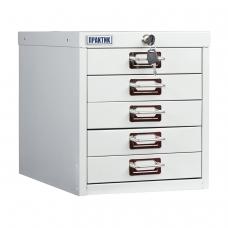 Шкаф металлический для документов ПРАКТИК MDC-A4/315/5, 5 ящиков, 314х277х405 мм, собранный