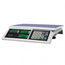 Весы торговые MERCURY M-ER 326AC-15.2 LCD 0,04-15 кг, дискретность 5 г, платформа 325x230 мм, без стойки