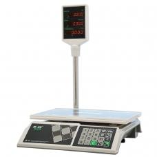 Весы торговые MERCURY M-ER 326ACP-15.2 LED 0,04-15 кг, дискретность 5 г, платформа 325x230 мм, со стойкой