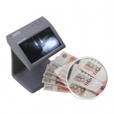 Детектор банкнот CASSIDA Primero Laser, ЖК-дисплей 11 см, просмотровый, ИК, антитокс, спецэлемент'М', 3391